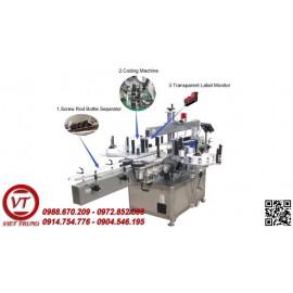 Máy dán nhãn giấy chai vuông tự động(VT-DN09)