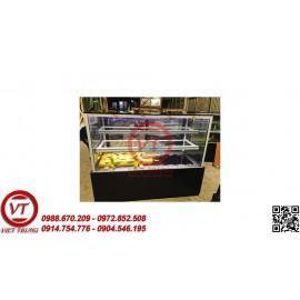 Tủ trưng bày bánh kem kính phẳng 3 tầng 1.5 m (VT-TTB05)